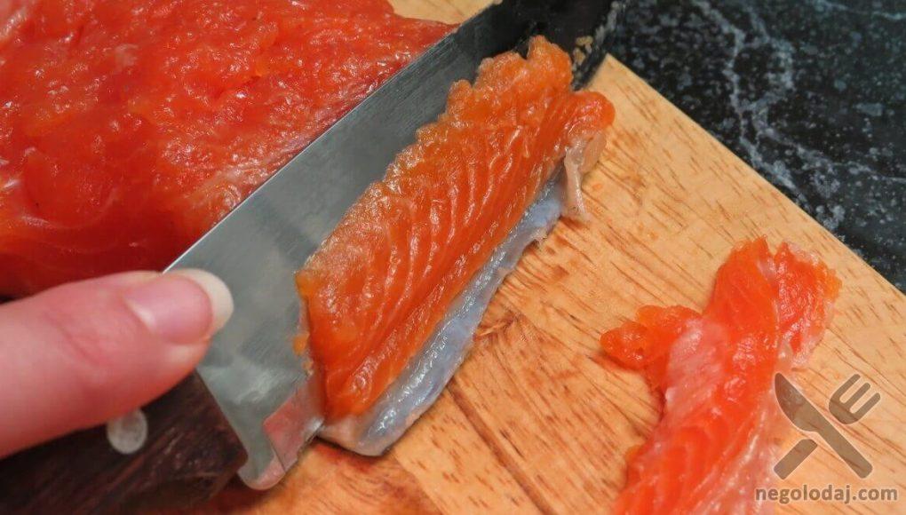 Домашняя соленая красная рыба