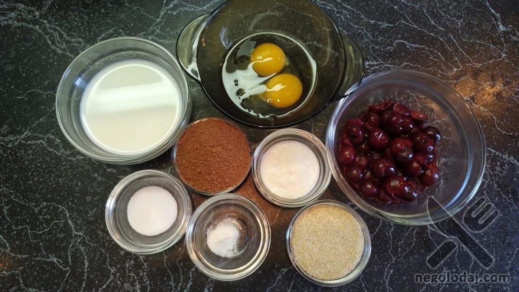 Ингредиенты для диетического брауни