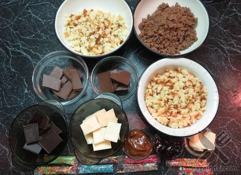 Ингредиенты с кейк попсов