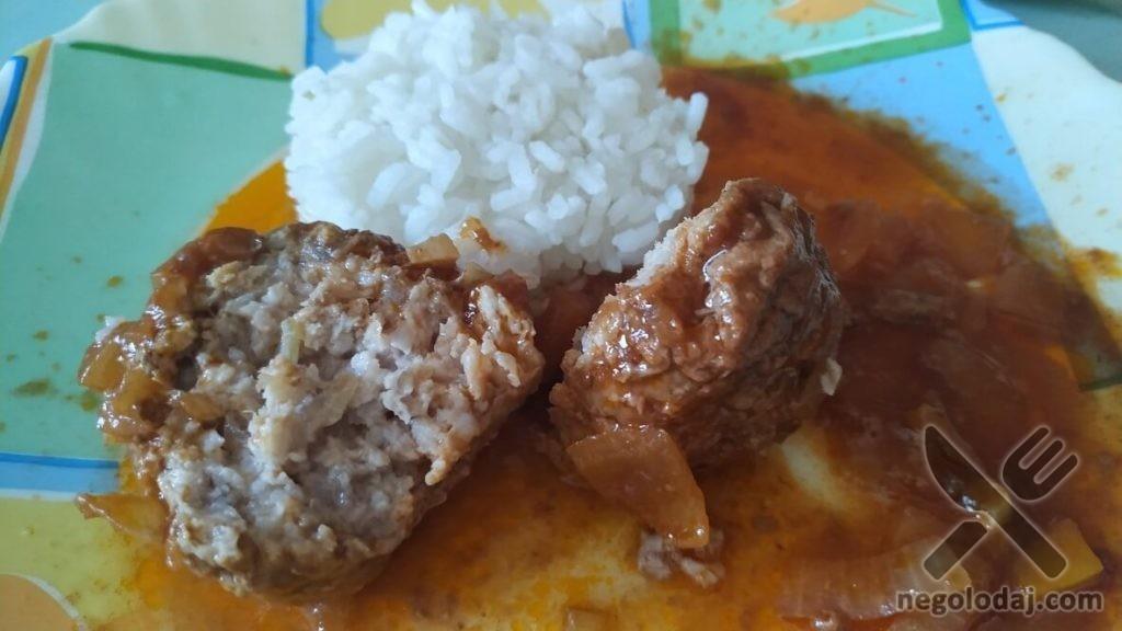Рецепт мясных тефтель