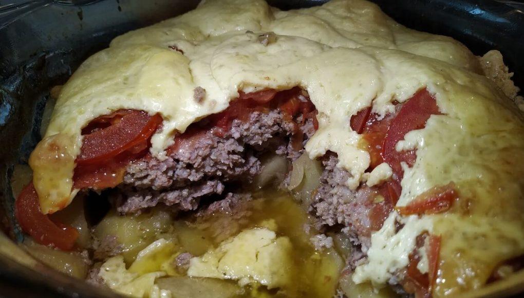 Рецепт картофеля с мясом