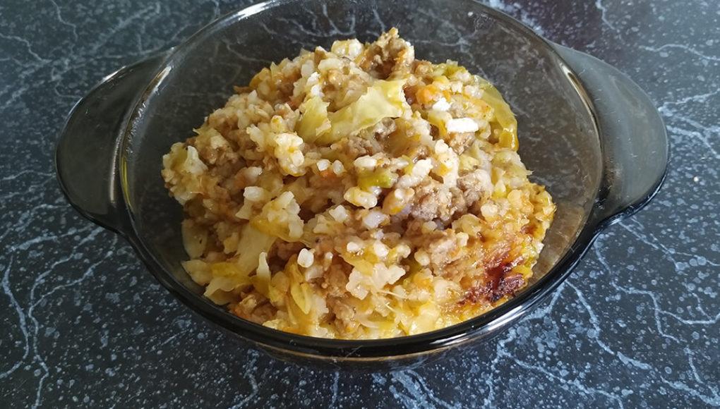 Ленивая капуста с мясом рецепт с фото