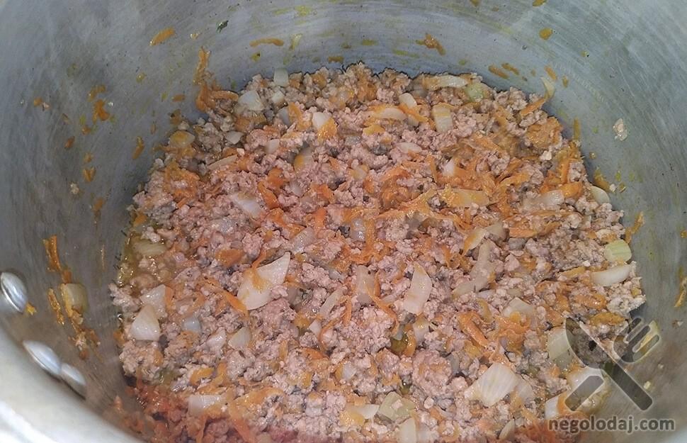 Рецепт ленивая капуста с рисом и фаршем