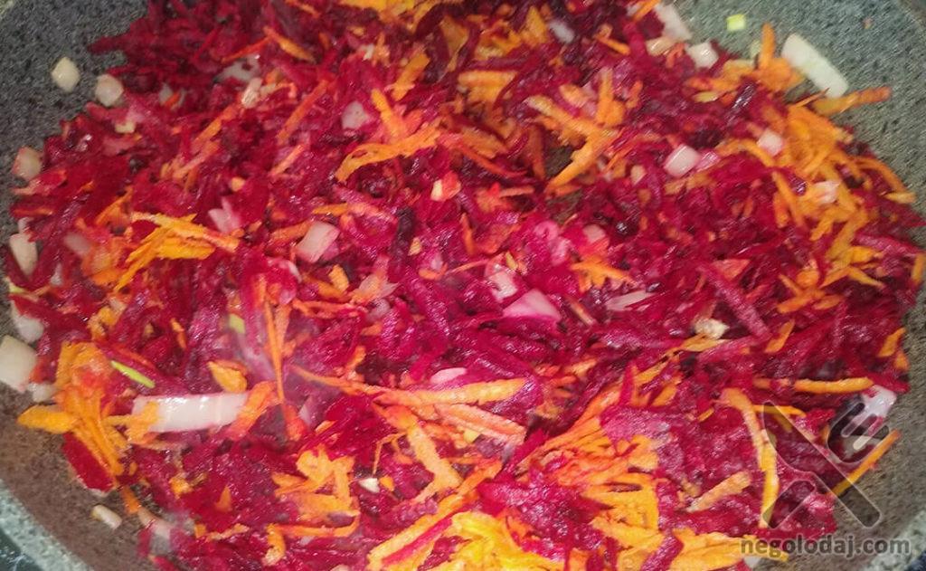 Заправка с овощей для борща рецепт