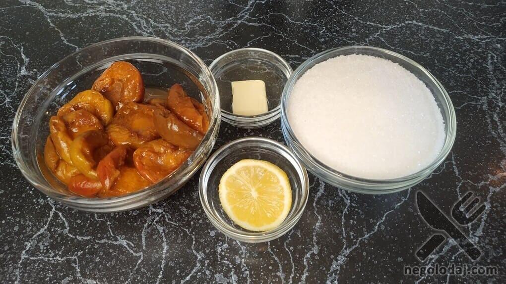 Ингредиенты для абрикосового джема