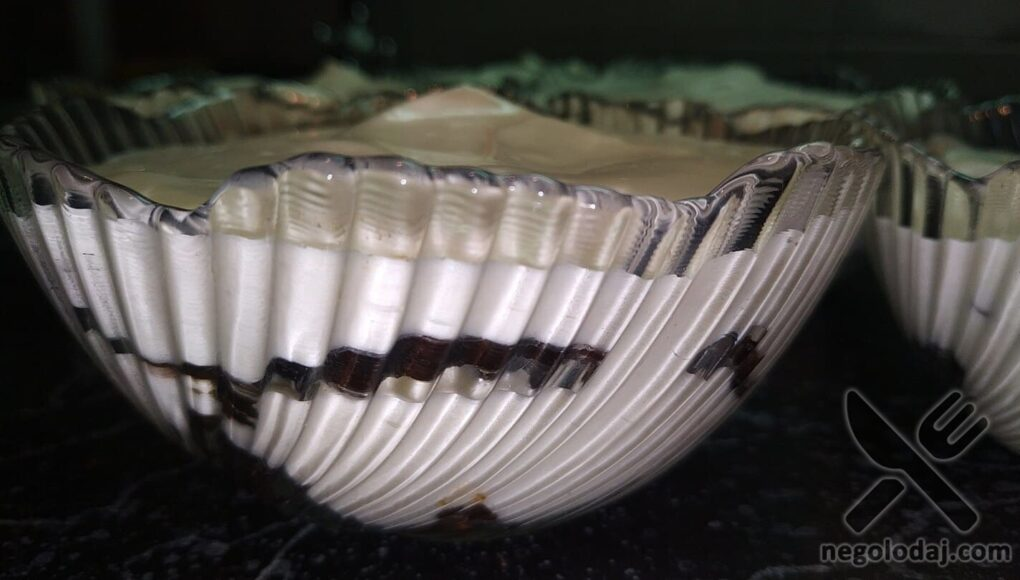 Как выглядит десерт сбоку