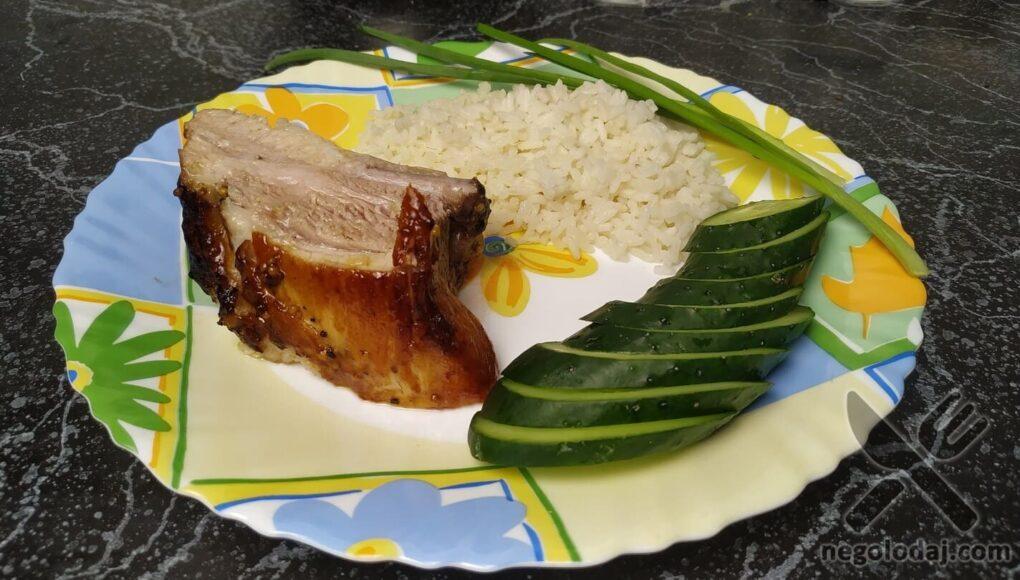 Свиные ребрышки в горчично-медовом соусе