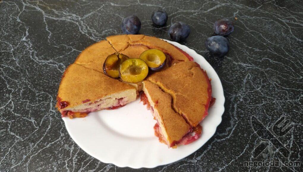 Рецепт сливового пирога ПП