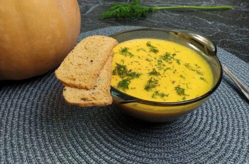 Готовый тыквенный суп-пюре