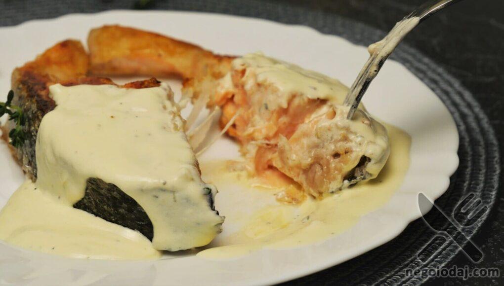 Рецепт вкусного лосося на сковороде