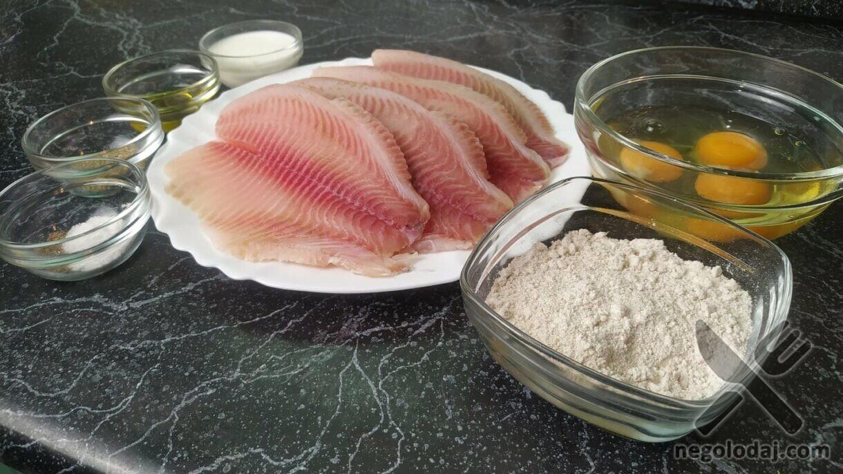 Ингредиенты для приготовления тилапии