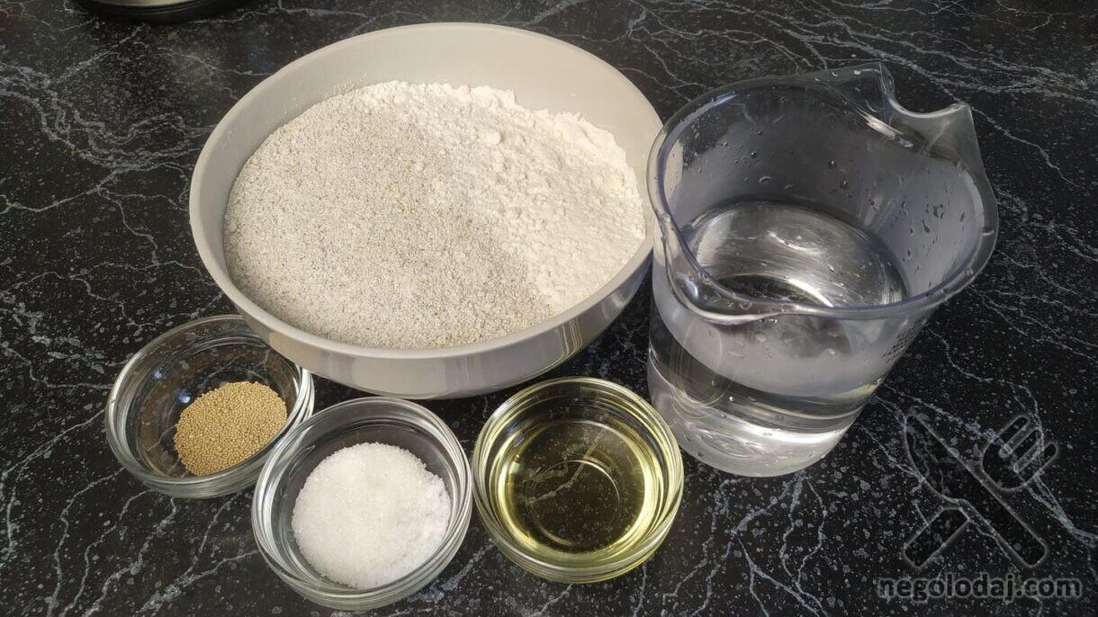 Ингредиенты для ржаного хлеба